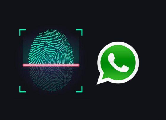 fingerprint authentication whatsapp