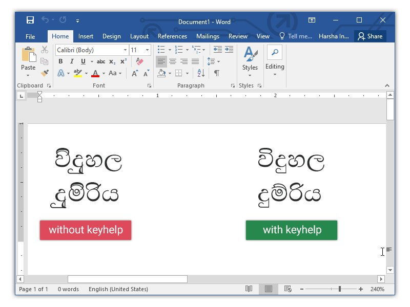Sinhala KeyHelp
