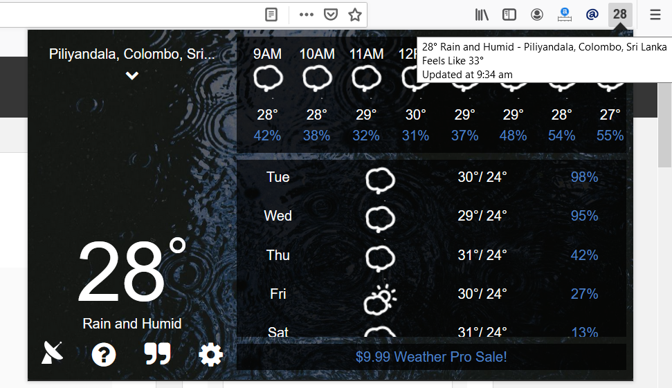 Weather in Your Browser